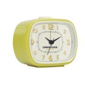 London Clock 1922 - Retro Collection - Geo - Yellow Rectangular Alarm Clock