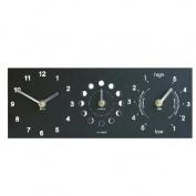 Eco Recycled Moon Phase, Time & Tide Wall Clock