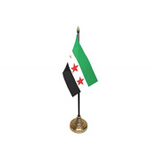 Pack Of 12 Syria Syrian Rebel National Council Desktop Table Centrepiece Flag Flags With Gold Bases Ideal For Party Conferences Office Display