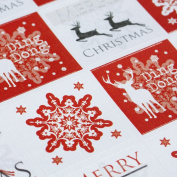 Luck and Luck Christmas Stickers - Snowflake and Reindeer Red x 35 Xmas