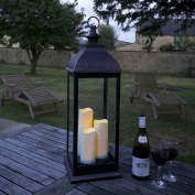 Smart Garden Giant Cream Battery Powered Lantern with 3 Candles in Copper or Cream