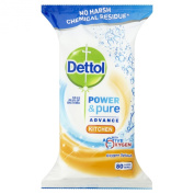 Dettol Power and Pure Kitchen 80 Wipes