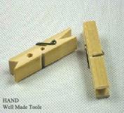 20Pcs Natural Laundry Clothes, Cloth, Bamboo Clips/Natural Clothespins - Sealing, Hanging Cloth 6.4cm