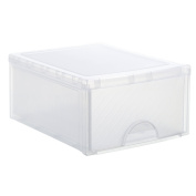 Rotho 44.5 x 34.5 x 20 cm Drawer Box Frontbox Big with Drawer/Plastics, Transparent