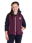 Harry Hall Girl's Bedale Quilted Gilet - Plum, 5-6 Years