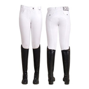 HV Polo Lamare Womens Self Strapping Breeches - White