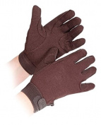 Shires Newbury Adults Cotton Gloves - Brown