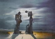 Salvador Dali Art Print, Réminescence Archéologique de l'Angélus de Millet, 1936