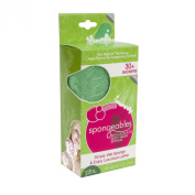 Spongeables 30 Plus Anti Cellulite Body Wash Infused Sponge with Verbena Green Tea Scent