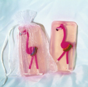 Pink Flamingo Toy Embeded Glycerin Soap