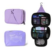 AP & AS Spacious Travel Kit Organiser Cosmetic Bags Hanging Hook Purple