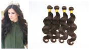 Virgin Brazilian Hair Body Wave Remy Human Hair Unprocessed Natural Hair Extensions #2 Dark Brown 4 Bundles 400g Per Lot AAAAAAA 7A Grade