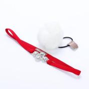 Peppercorn Kids Jewel Flower Headband & Pom Pom Hair Tie Set