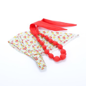 Peppercorn Kids Country Floral Headscarf & Loveable Necklace Set