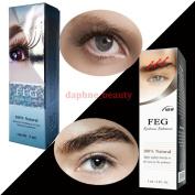 2 BOXES SET of FEG Eyelash Enhancer & FEG Eyebrow Enhancer Serum Liquid 100% Natural ORIGINAL