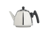 bredemeijer 1310Z Classic Double Walled Teapot, 1.2-Litre, Stainless Steel Glossy Finish with Black Accents