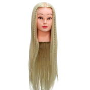 Neverland Beauty 60cm 30% Real Human Long Hair Hairdressing Cosmetology Mannequin Manikin Training Head Model with Clamp