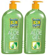 Ocean Potion 100% Pure Aloe Vera Gel-610ml, 2 pack