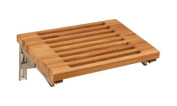 Plantation Teak Wall Mounted Fold Down Bench with Slats