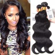 Unice Hair 14 16 18 50cm Brazilian Body Wave 4bundles 100% Real Unprocessed Virgin Human Hair Extensions Natural Black Colour