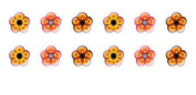 12pc x 12mm Handmade Round Domed Czech Glass Cabochons Flowers 6 S7T81