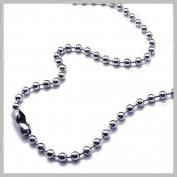 Stainless Steel Ball Chain Necklace 24 Inches 2.4mm Size #3 Pack of 50