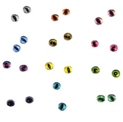 Wholesale 6mm Glass Doll Eyes Cabochons for Craft Making 12 Pair Bulk Lot