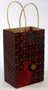 Expressive Designs Kraft Gift Bag - Cub Size - Christmas Cradinal & Holly