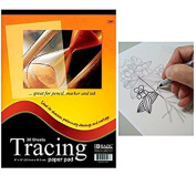 30 Sheets 23cm x 30cm Premium Quality Tracing Paper Pad for Sketches Preliminary
