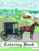 Colouring Books, Amish Themed, Buggy, Barn, Cat, Schoolhouse, Farm Animals, ABC, Assorted Styles