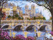 Wooden Framed Paint By Number No Mixing / No Blending Canvas DIY Painting - Palace Bridge
