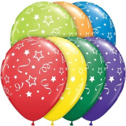 Pioneer Balloon Company Stars Balloon, 28cm , Assorted
