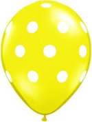 Pioneer Balloon Company 50 Count Big Polka Dot Latex Balloon, 28cm , Citrine Yellow