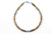 Healing Hazel Hazelwood Children Necklace Boy Pendant, Metallic Pendant/Turquoise/Dark Blue