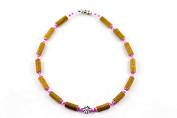Healing Hazel Hazelwood Children Necklace Girl Pendant, Metal Flower Pendant/Clear Pink/Matte Pink