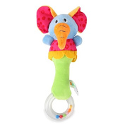 Baby Kids Lovely Soft Animal Cartoon Hand Bell Rattkes Developmental Toys