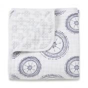 aden + anais Muslin Dream Blanket, Ahoy Baby Nautical Anchors Limited Edition Anchors