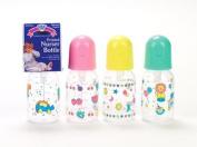 Baby King Nurser Bottle 150ml Boilable Bottle, Bk60, 3 Bottles, Assorted Styles and Colours