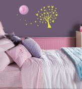 Cordeless Wall Décor Night Light - Easy to instal and decorates any child's room - Auto shut-off function after 20 minutes - Butterfly and Fairy GID