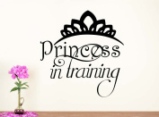 Wall Vinyl Decal princess in training nursery vinyl saying lettering wall art inspirational sign wall quote decor