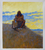 When His Heart Is Bad - Frederic Remington Hand-painted High Quality Hand-painted Oil Painting Reproduction