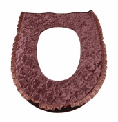 Stylish Soft Cloth Zip-fly Warm Toilet Seats Cushion Covers Pads Mats