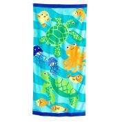 Jumping Beans Turtles & Friends Beach Towel - 70cm x 150cm