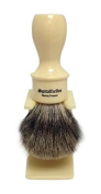 Spitalfields Shaving Company 100% Pure Premium Badger Bristle with Signature Classic Long Ivory Handle Barber Shop Shaving Brush and FREE Acrylic Stand - Old Spitalfields - Ivory