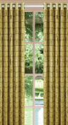 Versailles Home Fashions Bamboo Grommet Panel, Ivory/Green,160cm