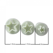 DUFUSTORE 3 Pcs Mini Star Fondant Plunger Cutter Cake Cookies Decorating Tool Mould