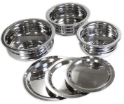 Kitchen Diva 6 Piece Stainless Steel Bowl & Lid Set