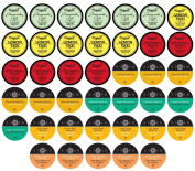 Two Rivers LLC Tea Sampler Pack for K-Cup Brewers, Herbal, 40 Count