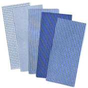 DII 100% Cotton Everyday Kitchen Basic Dish Towel Combo Gift (Set of 5), Blue