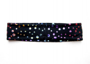Fit Bandit, Non Slip Sports Headband for Exercise, Multi Colour, Disco Dots